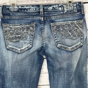 Big Star Jeans Sweet Low-Rise Bootcut Distressed